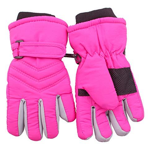 Kids Boy Girls Winter Snowproof Waterproof Snow Ski Gloves Mittens Thermal Warm