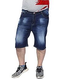 Heheja Homme Été Denim Pantalon Court Loisir Loose Jeans Shorts Grande  Taille 227c9173542
