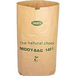 20 sacos de papel biodegradable de 140L para contenedores.
