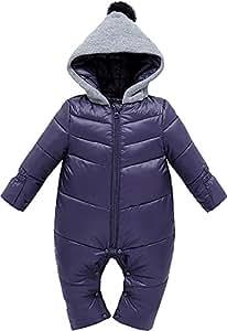ZOEREA Giacca bambina invernale Tuta da neve Bambino Tutine neonato Tute da neve per neonato Giacca trapuntata
