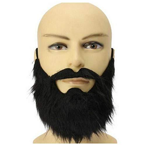 Mann Kostüm Schwarze Lustige - Zonster Mode 1pc Lustige Kostüm-Partei-männlicher Mann-Halloween Bart Bart Disguise Spiel-Schwarz-Schnurrbart-Maske