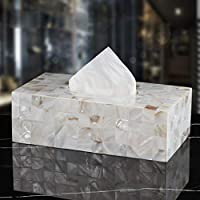 UCYG Creative Scents Rectangular Square shell material Tissue Box Holder, Decorative Tissue Box Cover is Finished in Beautiful Mother of Collection (Size : A 26 * 13 * 9)