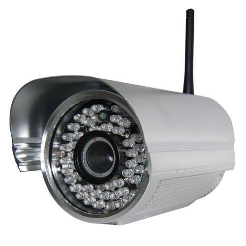 Foscam FI8905W mit 6mm Linse Wetterfeste IP Kamera * FREE DDNS * MJPEG * 640x480 Pixel * 30m Nachtmodus * WIFI N mit 300MBit/s * 6mm Linse / 30° Winkel* 60 IR LEDs für bis zu 30m Nachtmodus * Für MAC / Windows / Linux / Android und IP (Foscam Cam Ip)