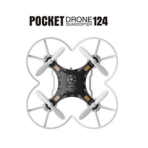 SBEGO FQ777-124 Micro Tasche Drone 4CH 6 Achsen Gyro Mit Umschaltbar Controller und 3D Irregularity Headless Modus Eine Soup Come about Mini Quadcopter für Kinder Spielzeug (Depressing)