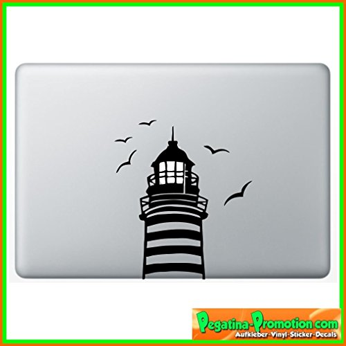 "Preisvergleich Produktbild ""Leuchtturm 2 Apple"" Aufkleber Sticker für Macbook Air 11 13, Macbook skin 13, 15, 17 Zoll inch Apple Notebook Aufkleber ohne Hintergrund Tattoo Vinyl PEGATINA Apple Mac"