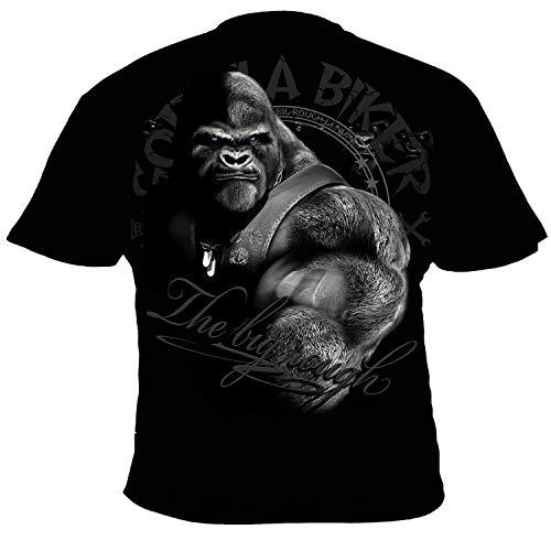 GB47 Gorilla Biker All for one Herren T-Shirt Farbe Schwarz, Größe M