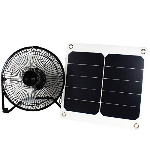 10W 5V Solarpanel Powered Lüfter Fan für Camping Caravan Yacht Gewächshaus Hundehaus Hühnerstall Ventilator