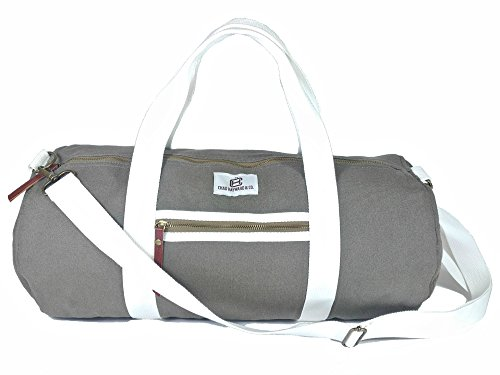 chad-hayward-co-dark-olive-canvas-barrel-duffle-gym-sports-holdall-travel-bag-34-litre-capacity