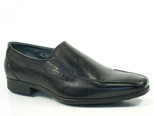 Bugatti Herren Schuhe Halbschuhe Slipper Felice U5364-1 Schwarz