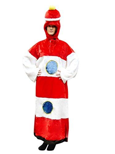F27/00 Gr. L, Leucht-Turm, Leuchttürme Karnevalskostüm für Männer und Frauen, Leuchtturm-Kostüme für Fasching Karneval, als Karnevalskostüm, Faschings-Kostüme Erwachsene Paar-Kostüme (Gruppe 3 Kostüm Ideen)