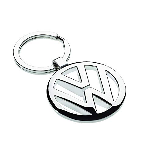 Price comparison product image iTech ® Volkswagen VW Chrome Metal Car Logo Keyring Key Fob Keychain