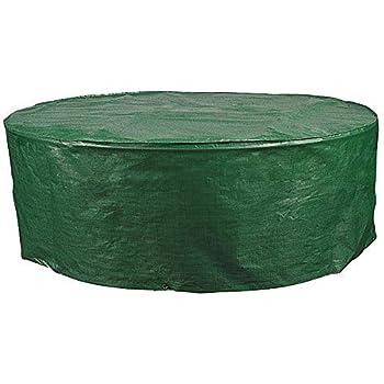 Schutzhülle Abdeckhaube Abdeckung Schutzhaube für Gartentisch oval Grün GZ1162