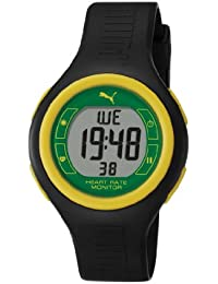 Puma Pulse Jam Unisex Digital Watch with LCD Dial Digital Display and Black Plastic or PU Strap PU910541016