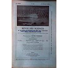 NATURE (LA) [No 843] du 27/07/1889 - EXCURSION AU MONT BANDAI AU JAPON - EXPLOSION D'UNE MONTAGNE - LA ROUILLE - LES ANGOLAIS A PARIS - DARNIS - DOCK FLOTTANT AU PORT DE HAMBOURG - BELLET - TRANSPORT AU PALAIS DES ARTS LIBERAUX - TISSANDIER - FORMATION DES FOSSILES D'APRES L. DE VINCI - SERGENT - CANALISATIONS ELECTRIQUE A PARIS - LAFFARGUE - MEUNIER - PUITS ARTESIEN A L'ESPLANADE DES INVALIDES A PARIS - DE NANSOUTY.