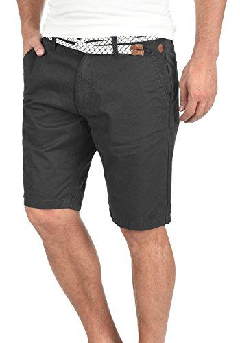 BLEND Ragna Herren Chino-Shorts kurze Hose Business-Shorts mit Gürtel aus 100% Baumwolle Phantom Grey (70010)
