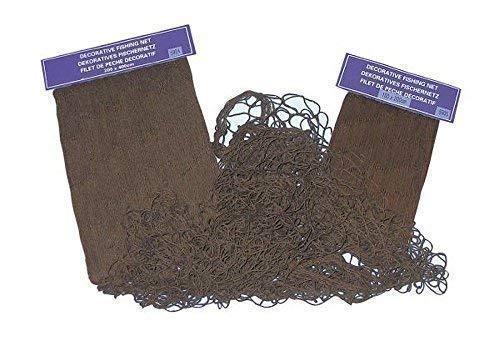 linoows Fischernetz, dekoratives Fischnetz Braun, Baumwoll Netz 100 x 200 cm (Dekorative Fischernetz Braun)