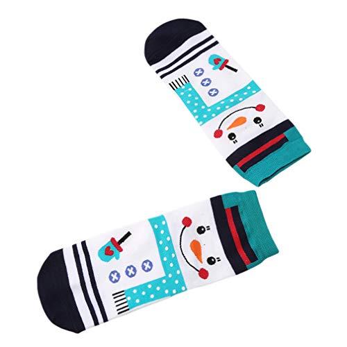 hristmas Socken warme Winter Baumwolle Socken Weihnachten Stil, weiß ()
