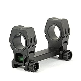 Triplespark 25mm/30mm Dual Rings Scope Mount with Bubble Level QD Scope Mounting Rings Fit 20mm Picatinny Weaver Rail