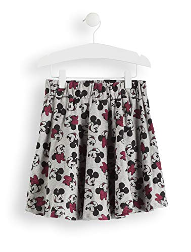 RED WAGON Mädchen Minnie Mouse Skirt with All Over Print Rock, Grau (Grey AOP), 116 - Kostüm Red Minnie