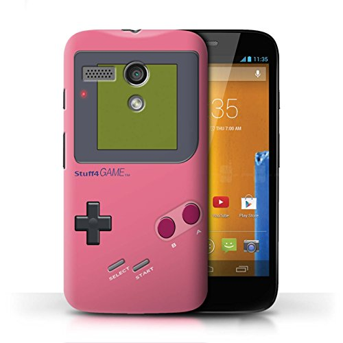 Stuff4® Hülle/Case für Motorola Moto G (2013) / Rosa Muster/Videogamer/Gameboy Kollektion - Case Moto Gameboy Motorola G