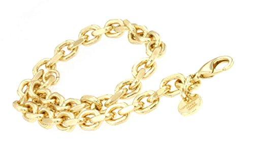 blé 6 mm 60 cm Halskette Gold-Kette Herren-Kette Damen Geschenk Schmuck ab Fabrik Italien tendenze AGYs6-60v ()