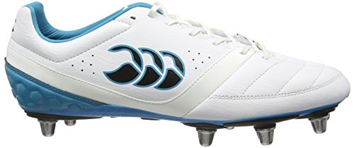 Canterbury Phoenix Club 8 Stud, Chaussures de Rugby Homme Blanc (001 White)