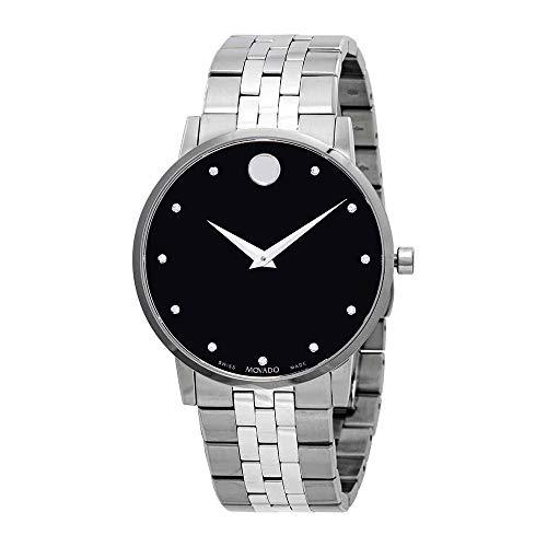 Movado Men's Museum Classic Diamond 40mm Steel Bracelet Quartz Watch 0607201