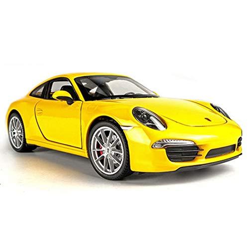 DQMSB 1:24 Modèle De Voiture De Sport, Modèle De Voiture en Alliage De Simulation, Décoration De Voiture (Color : Porsche 911 Carrera (Yellow))
