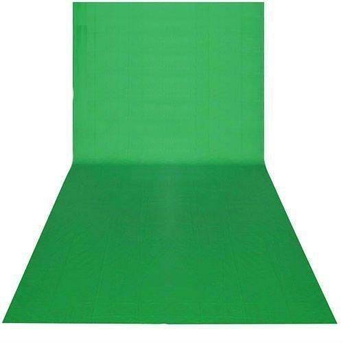 BPS - Telón de Fondo para Estudio Fotográfico 9 x 20 pies / 3 x 6M, Color Verde, Tela sin Tejido, Telón de fondo pantalla de fondo para Fotografía, Vídeo y Televisión