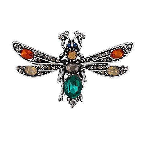 Vektenxi Retro Frauen 'Libelle Brosche dreidimensionale Abzeichen oder Boutonniere 1 STÜCKE Hohe Qualität (Anhänger-konverter-kit)