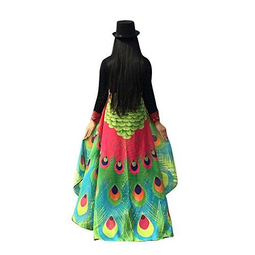 Wolle Voller Länge Mantel (Theshy Damen Mantel Jacke Oberbekleidung Herbst Cardigan Kimono Kittel KostüM Windbreaker Outwear Weich Stoff SchmetterlingsflüGel Schal Fee Nymphe Pixie KostüMzubehöR (Heiß Rosa D, 197 * 125CM))