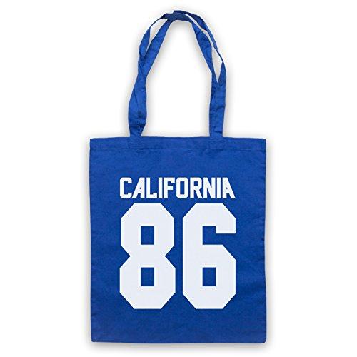 Inspiriert durch California 86 As Worn By Damon Albarn Inoffiziell Umhangetaschen Blau