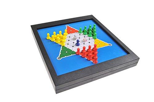 Magnetisches-Brettspiel-2-in-1-Standard-Gre-Sternenhalma-Leiterspiel-Schlangen-und-Leitern-Snakes-and-Ladders-magnetische-Spielsteine-23cm-x-205cm-x-27cm-Mod-SC6704-DE
