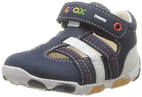 Geox B Balu B. D, Chaussures premiers pas bébé garçon Bleu (Navy/White)