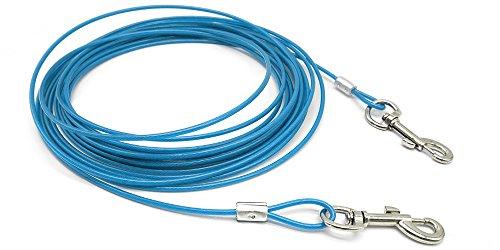 beirui Premium 10'/16'/32'Hund Anlegeleine-Heavy Duty Hunde Kette Leashes-Perfekt Pets Hundeleine für Kleine & Mittlere Größe, 32 Foot, Blau -