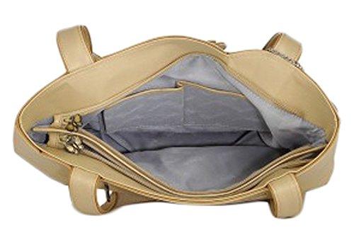 Butterflies sac à bandoulière sac à main de femmes occasionnels avec le portefeuille d'embrayage ensemble de 2 pcs Beige