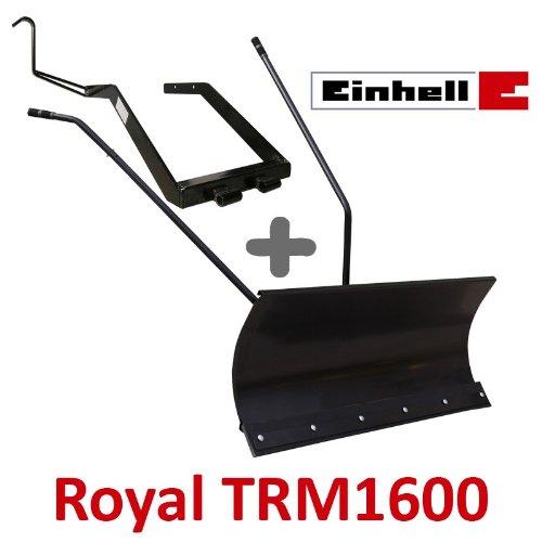Lame à Neige 118 cm Noire + adaptateur pour Einhell Royal TRM1600