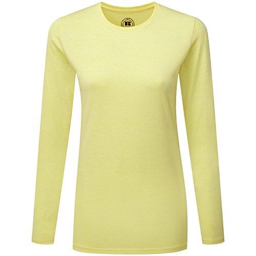 Russell Womens Long Sleeve T-Shirt Yellow Marl