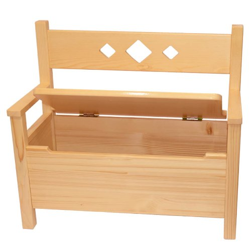 Muebles Para Niños Banco De Pino Macizo Natural Barnizado
