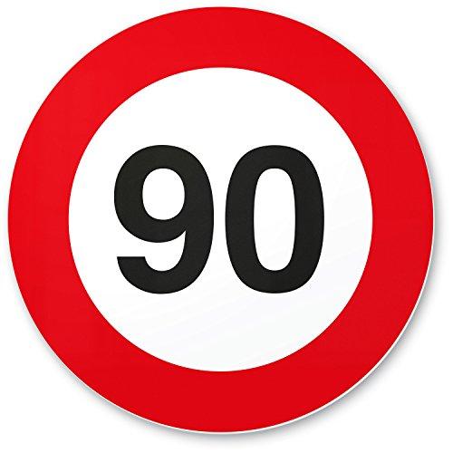 DankeDir! 90. Geburtstag Kunststoff Schild (20 x 20 cm), Geschenk 90 Geburtstag Opa/Oma / Uropa/Uroma, Geschenkidee Geburtstagsgeschenk 90ten Geschenk 80er Geburtstagsparty