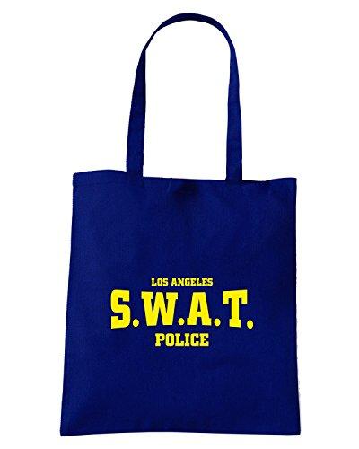 T-Shirtshock - Borsa Shopping T0325 SWAT POLICE militari Blu Navy