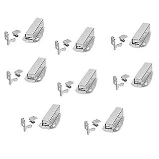 Gedotec Federschnapper Druckverschluß Druckschnapper AUTOMATIK Federschnappverschluss Toutch-Latch | zum Schrauben | glanzverzinkt | 8 Stück