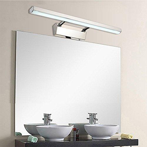 OOFAY Wall Light@ 6W Luminaire Salle De Bain Lampe LED Applique Miroir Salle De Bain Lumière Blanc Acier Inoxydable Imperméable À l'eau Et Étanche À L'humidité [Classe Énergétique A]