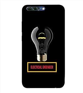 PrintVisa Designer Back Case Cover for Huawei Honor 8 Pro (Bulb LED Light Electric Electricity)