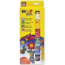 Sio-2 Color Plus - Arcilla (75 g, secado al aire), 6 colores diferentes