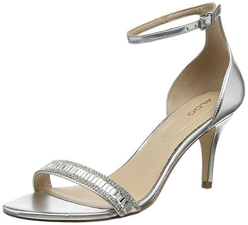 Aldo Women Kaylla Ankle Strap Sandals, Silver (Silver), 6 UK 39 EU
