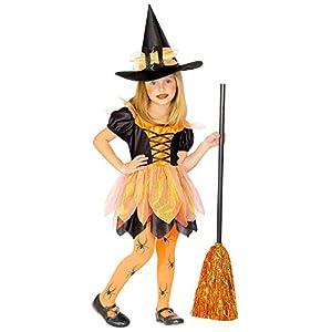 WIDMANN - Disfraz de bruja para niños, multicolor, (116 cm/4 - 5 años), 43935