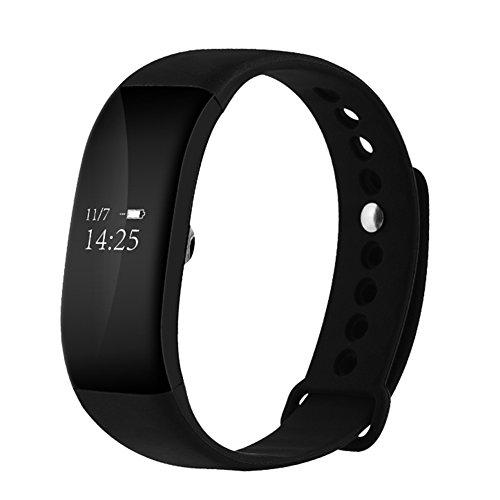 Pulsera Actividad Demiawaking Reloj Inteligente Impermeable de IP67 Pulsómetro con Bluetooth 4.0 OLED Pantalla Reloj Deportivo Monitor de Sueño Podómetro con IOS y Android Smartband