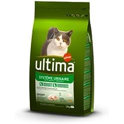 Ultima Croquettes pour Chat Protection Système Urinaire Poulet et Riz 1,5 kg