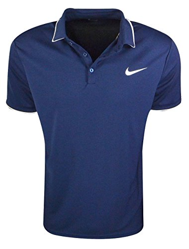 Nike M Nkct Dry Polo Team Camiseta de Manga Corta de Tenis, Hombre, Azul (Midnight Navy / Midnight Navy / White / White), 2XL